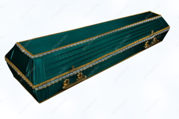 гроб обитый тканью Траур